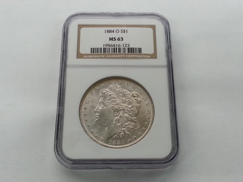 1884-O MORGAN S$1 MS63 NGC # 1956416-123