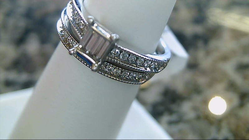 Lady's Diamond Wedding Set 33 Diamonds .43 Carat T.W. 14K White Gold 4.5g