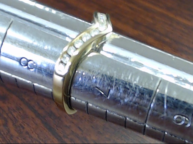 VINTAGE DIAMOND CHEVRON ANNIVESARY WED RING BAND SOLID 14K GOLD SZ 7