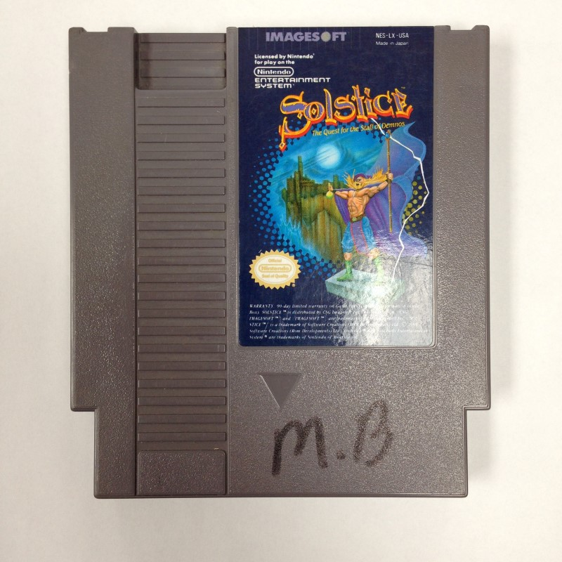 NES SOLSTICE (NINTENDO ENTERTAINMENT SYSTEM, 1990, CARTRIDGE ONLY)