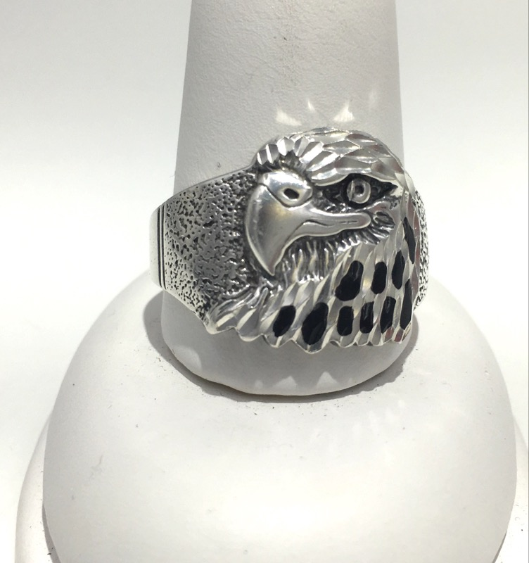 Sterling Silver/ Black Onyx - WHEELER MANUFACTURING - Eagle Ring