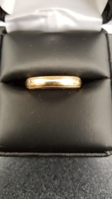 Gent's Gold Wedding Band 14K Yellow Gold 5.1g Size:7.5