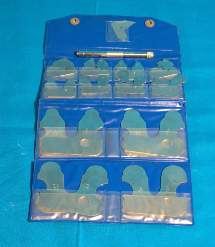China Made 25 Piece Radius Gage Set w/Case #06457055