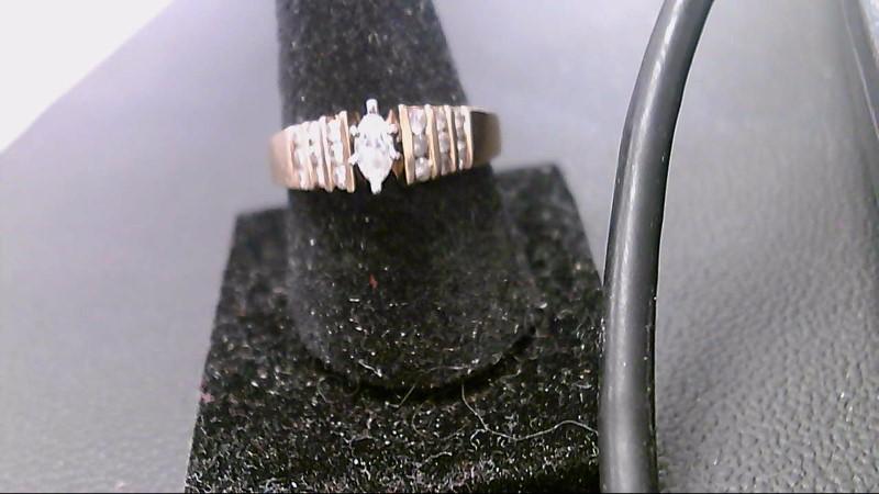 Lady's Diamond Cluster Ring 19 Diamonds .82 Carat T.W. 14K Yellow Gold 3.8g