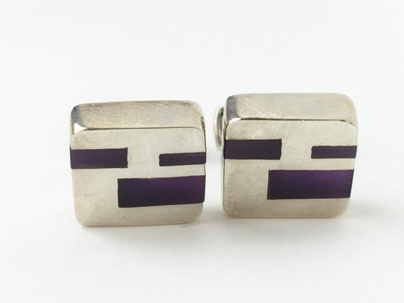 Amthyst Sterling Silver .925 Cufflinks