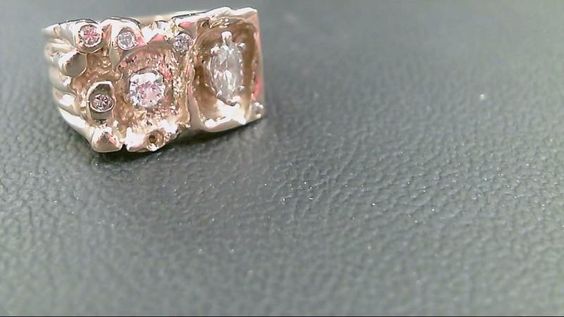 Lady's Diamond Fashion Ring 5 Diamonds .54 Carat T.W. 14K Yellow Gold 10.2g