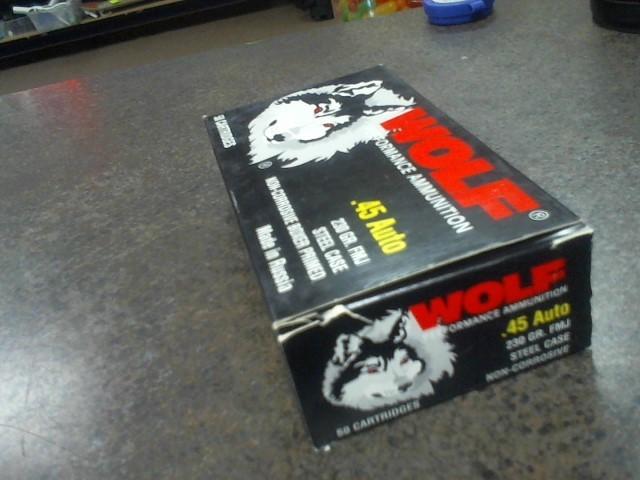 WOLF AMMO 45ACP