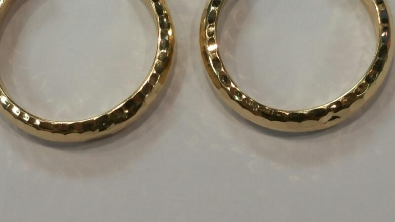 Gold Earrings 14K Yellow Gold 1.3dwt