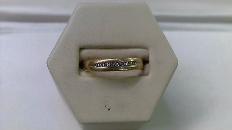 Lady's Diamond Wedding Band 10 Diamonds .20 Carat T.W. 10K Yellow Gold 3.6g