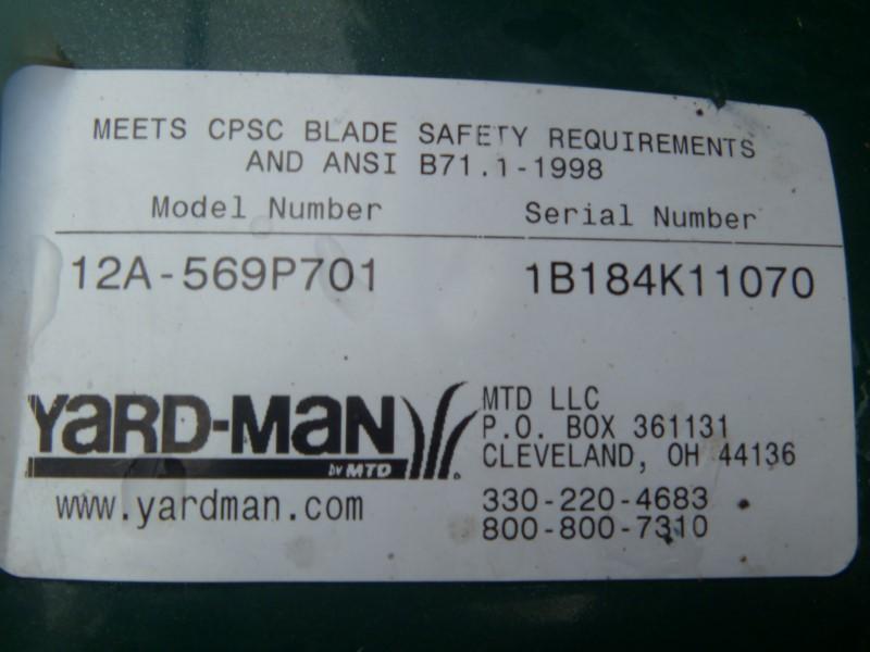 YARD-MAN 12A-569P701 6.5 HP 21-INCH 3N1 HIGH WHEEL SELF PROPELLED LAWN MOWER