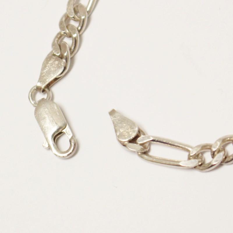 "8"" Sterling Silver Figaro Bracelet"