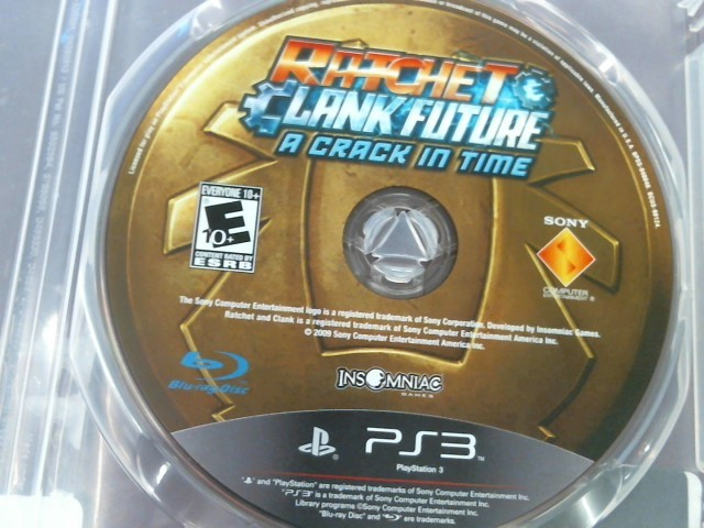 PS3 RATCHET & CLANK FUTURE A CRACK IN TIME - DISC ONLY