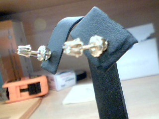 Gold-Diamond Earrings 2 Diamonds .20 Carat T.W. 10K Yellow Gold 1g