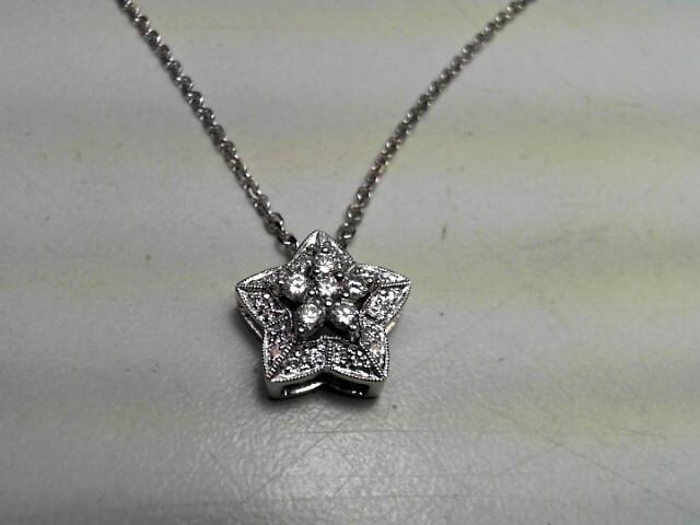 Diamond Necklace 26 Diamonds .47 Carat T.W. 18K White Gold 5.4g