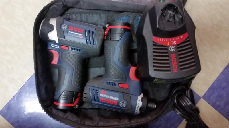 Bosch CLPK27-120 Cordless 12V Max Lithium Ion Pocket Driver & Impact Kit