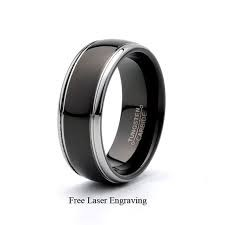 Gent's Ring Black Tungsten 19.6g