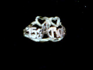 Lady's Gold Ring 14K Yellow Gold 1.4g
