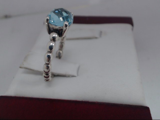Blue Stone Lady's Silver & Stone Ring 925 Silver 4.5g