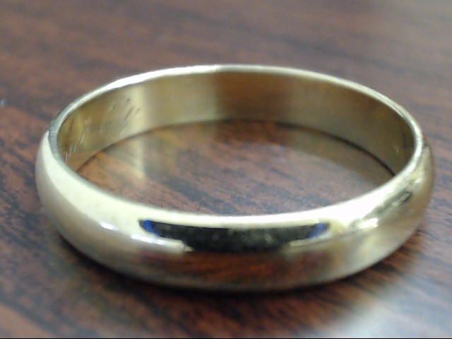 VINTAGE CLASSIC WED RING BAND SOLID REAL 14K GOLD  4.5MM SIZE 11.5