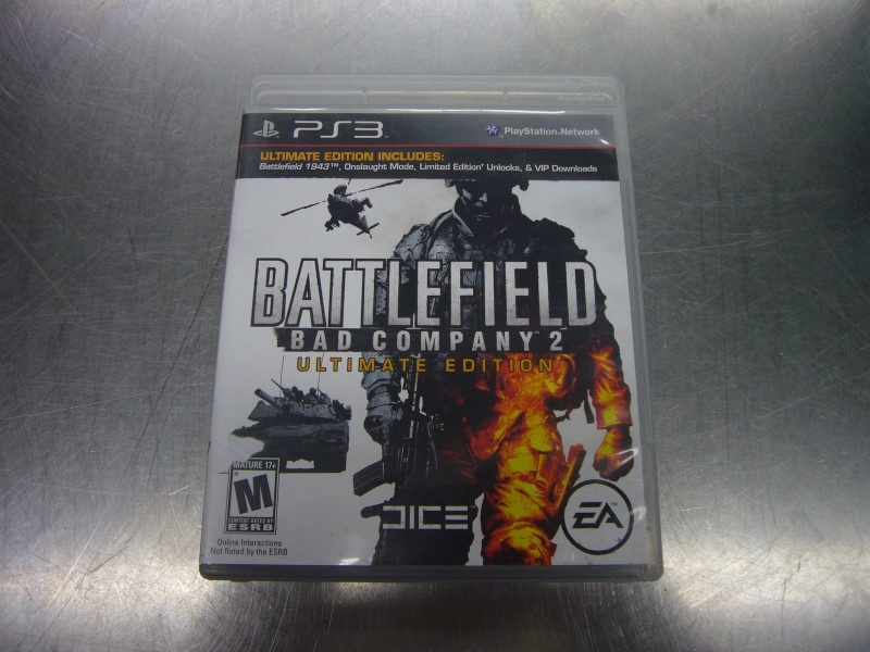 SONY PlayStation 3 Game BATTLEFIELD BAD COMPANY 2 ULTIMATE EDITION