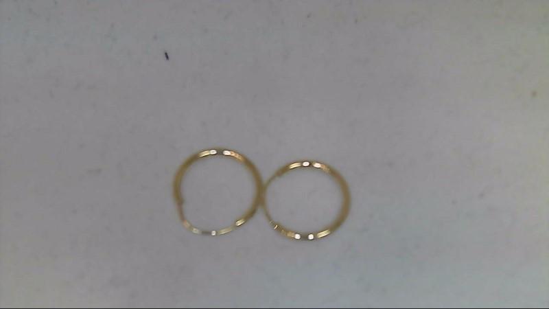 Gold Earrings 14K Yellow Gold 0.23g