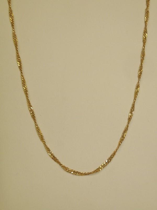 "20"" Gold Singapore Chain 10K Yellow Gold 1.7g"