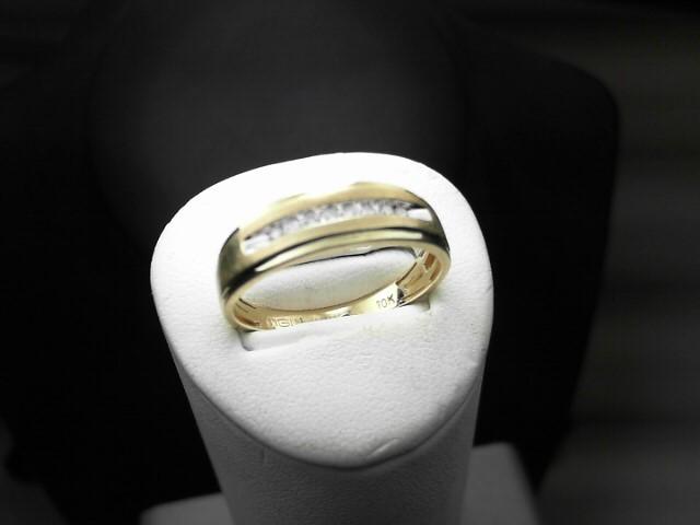 Gent's Diamond Fashion Ring 8 Diamonds .08 Carat T.W. 10K Yellow Gold 2.5g