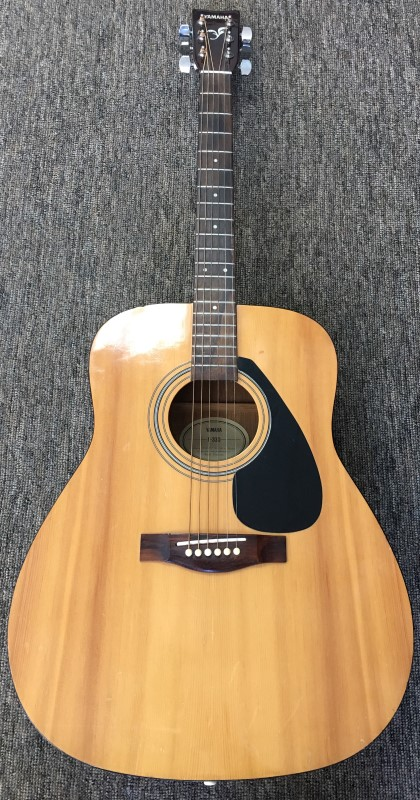 YAMAHA ACOUSTIC GUITAR, MODEL # F-330, SIX STRING.
