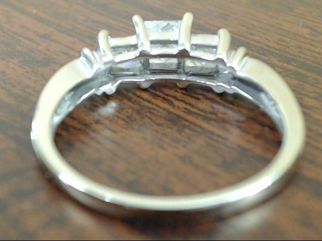 ESTATE PRINCESS DIAMOND ENGAGE WED RING SOLID 10K WHITE GOLD SIZE 8