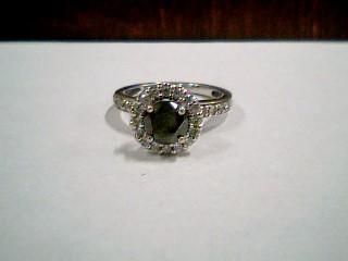 Synthetic Onyx Lady's Stone & Diamond Ring 25 Diamonds .25 Carat T.W.
