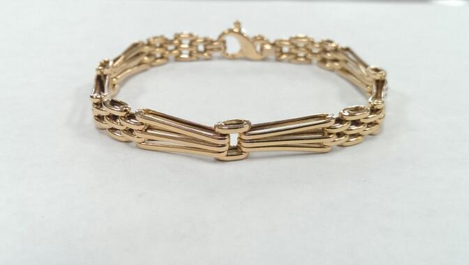 Gold Bracelet 14K Yellow Gold 10.9g
