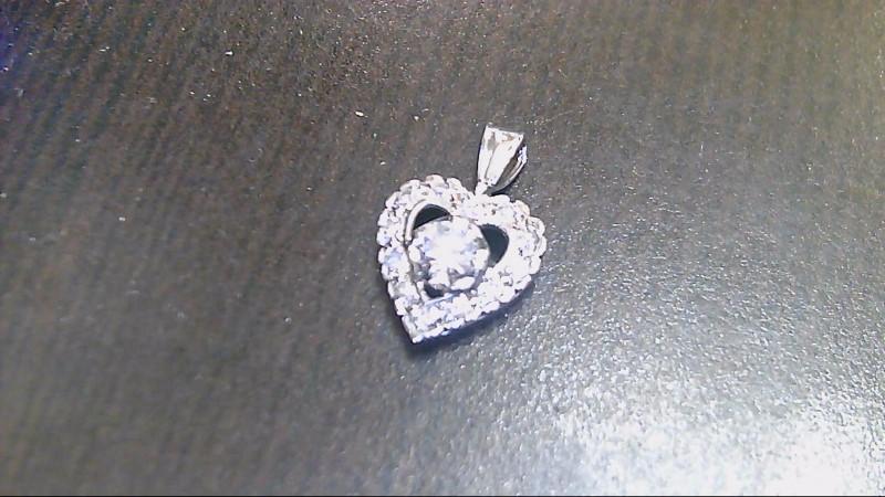 Gold-Multi-Diamond Pendant 13 Diamonds .47 Carat T.W. 14K White Gold 1.3g