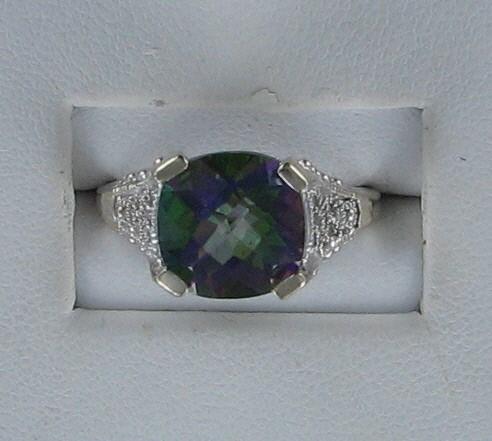Lady's Gold Ring 14K White Gold 3.1dwt