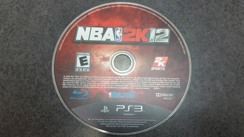 NBA 2K12 (PlayStation 3 PS3) Disc only
