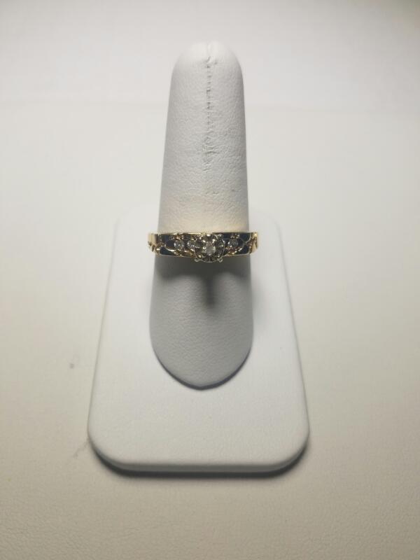 WHITE STONE(S)  FASHION RING L'S 14KT WHITE STONE(S)  3.6/PWT/YELLOW