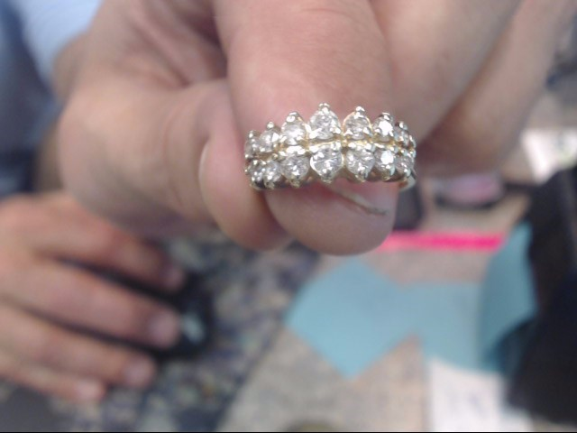Lady's Diamond Cluster Ring 14 Diamonds .82 Carat T.W. 14K Yellow Gold 2.4dwt