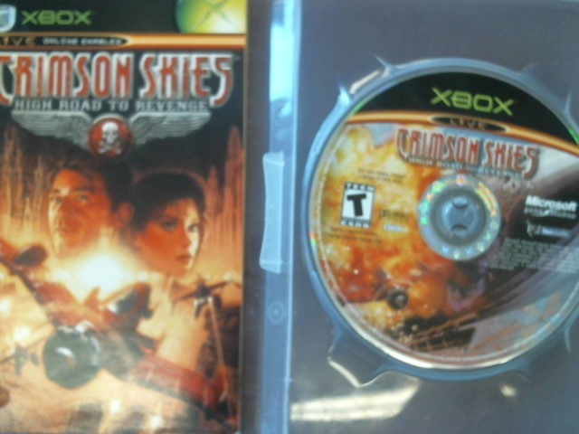 XBOX CRIMSON SKIES - DISC AND MANUAL
