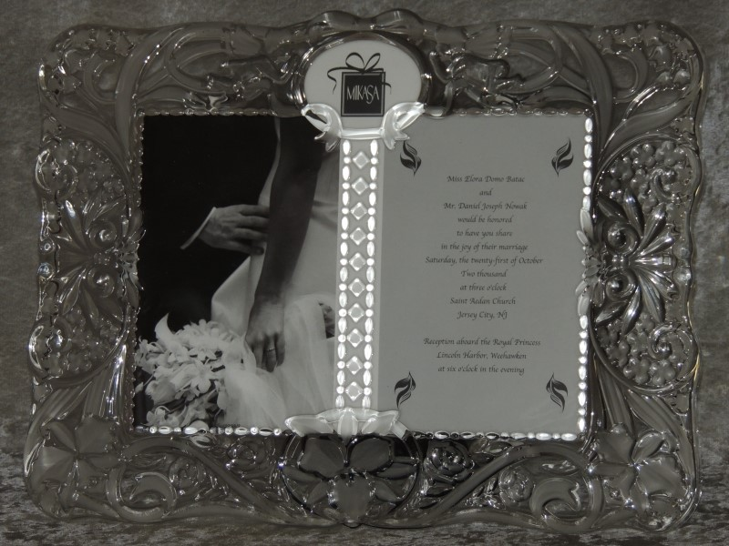Mikasa Crystal Double Frame Cherished Moment 5 x 7 Crystal