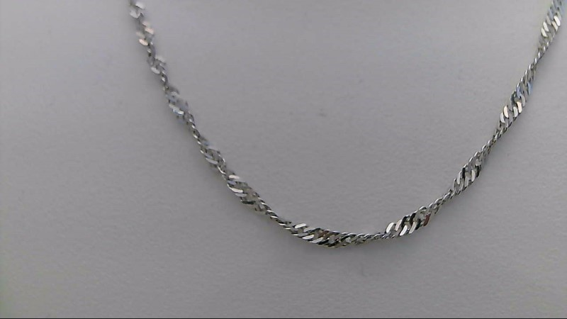 14k white gold singapore chain 18""