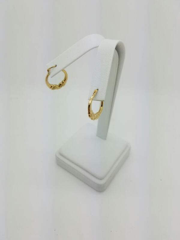 FASHION Gold Earrings 10K Yellow Gold 0.3dwt