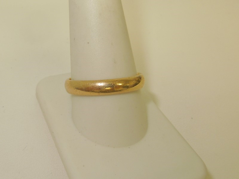 Gent's Gold Wedding Band 14K Yellow Gold 5.2g Size:10