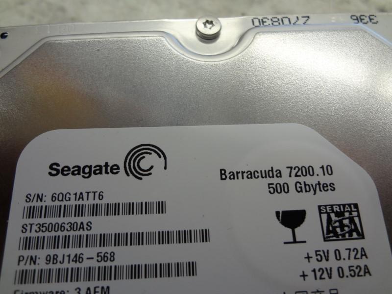 SEAGATE BARRACUDA 7200.10 500GB
