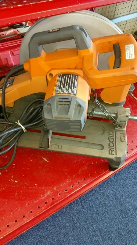 RIDGID TOOLS RADIAL CHOP SAW MODEL#  R4141