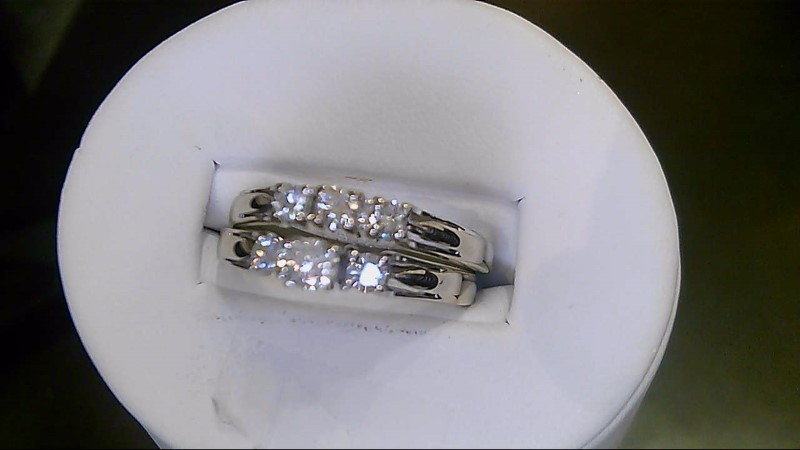 Lady's Diamond Wedding Set 6 Diamonds .53 Carat T.W. 14K White Gold 5.4g