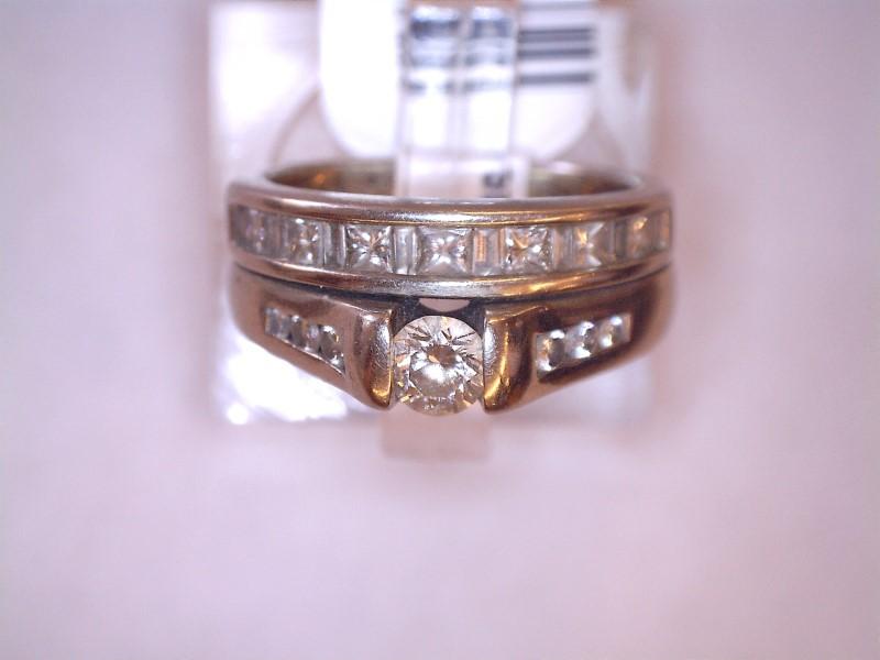 Lady's Diamond Wedding Set 22 Diamonds .78 Carat T.W. 14K White Gold 4.28dwt