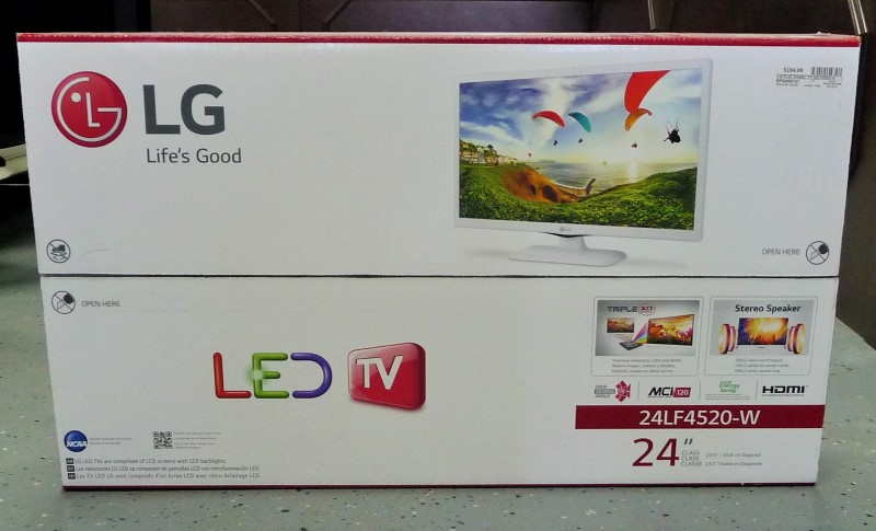 "LG 24LF4520-W 24"" Flat Panel Television Still in Box"