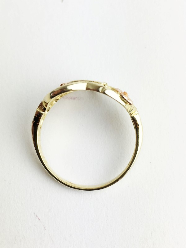 B Initial Ring 14K Yellow Gold 2.31g Size:5