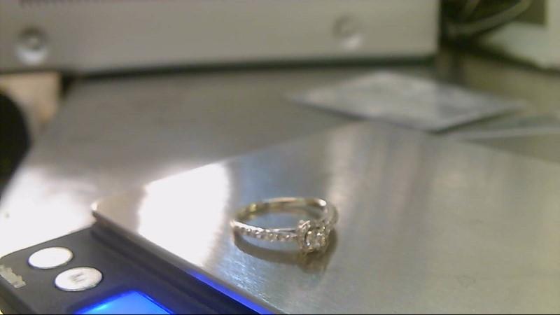 Lady's Diamond Engagement Ring 27 Diamonds .41 Carat T.W. 14K White Gold 3.1g