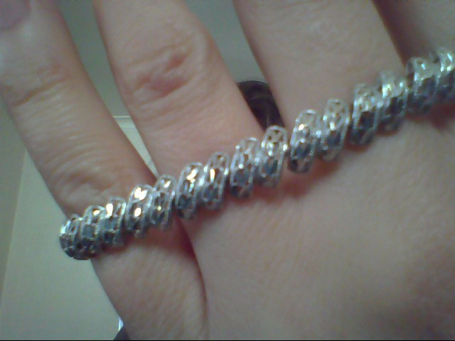 Gold Fashion Bracelet 18K White Gold 9.6g