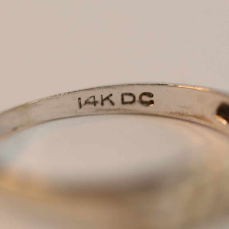 """14K White Gold with word """"LOVE"""" Cut Out Ring Size 6.75"""